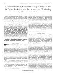 a low cost microcontroller based data acquisition system for solar