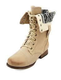 Shoes Aztec Light Brown Combat Boots Wheretoget