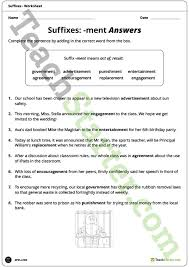 ment suffixes worksheet teaching resource u2013 teach starter