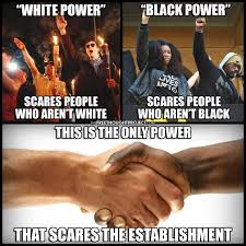 White Power Meme - the only power that scares the establishment conspiracy