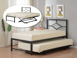 twin size daybed with trundle pop up trundle bed frame for flexible interior arrangement