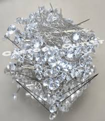 Corsage Pins 144 Diamond Head Pins Wedding Corsage Bouquet Pin Needles