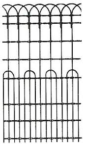 ornamental woven wire fence surrounded the front yard and