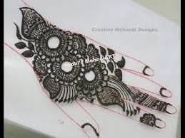 trendy arabic henna mehndi design tutorial youtube