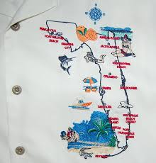Marco Island Florida Map White Nat Nast Florida Map Camp Shirt Free Shipping