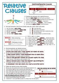 relative clauses homeschool english pinterest printables