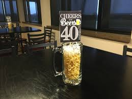 birthday cheers cheers and beers to 40 years centerpiece birthday party ideas