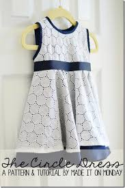 free the circle dress patter 6 9 months and tutorial sewing