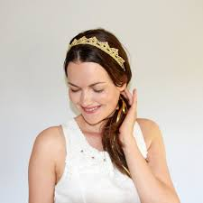 gold headbands bohemian wedding headpiece gold crown lace crown headband gold