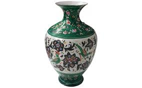 Antique Hand Painted Vases Viyet Designer Furniture Accessories Vintage Hand Painted