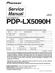 pioneer pdp lx5090h service manual en flash memory read only