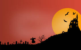 halloween background graveyard wallpaper haunted castle scary graveyard ghost hd