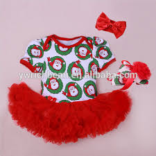 2015 Baby Christmas Clothes Baby Rompers Tutu Dress head Band