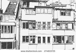 sketch of apartment house stock images royalty free images