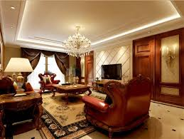Victorian Interior Design by Wall Mounted Tv On Black Wall Dark Brown Cubic Tables White Wall