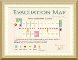 Emergency Exit Floor Plan by Evacuation Maps Hotel Emergency Plans Hotel Evacuation Monterey Ca