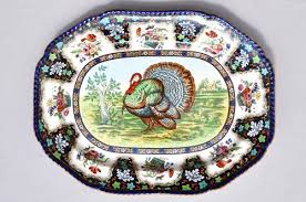 ceramic turkey platter 1960 s spode 19 turkey platter antiques from the retreat