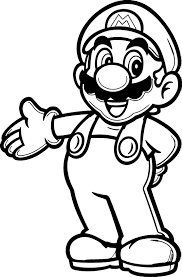 super mario brothers coloring pages