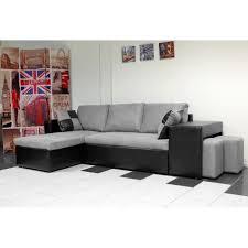 canapé d angle noir et gris nevada canapé d angle convertible noir gris poufs inclus achat