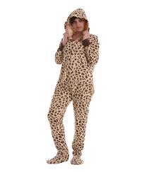 footed pajama suit leopard spots funzee