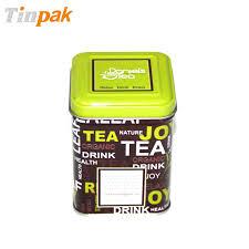 China tea tin can manufacturers Wholesale tea tin container