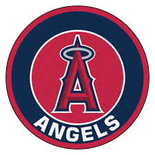 Round Throw Rugs by Angeles Angels Logo Roundel Mat 27