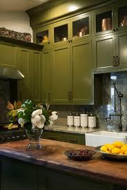 green painted kitchen cabinets kitchen decoration