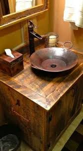 Rustic Bathroom Fixtures - this is fun want for my 1 2 bathroom for the home pinterest