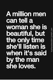 a million can tell a she is beautiful but the only time