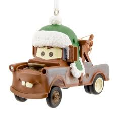disney cars tow mater tree ornament brown tow truck