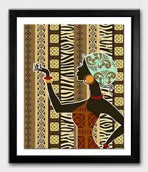 wall art ideas design woman african wall art and decor standing