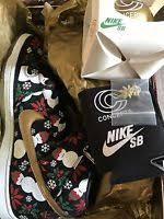 nike sb dunk high ugly christmas sweater size 10 5 hi ucs diamond