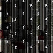 Amazon Beaded Curtains Amazon Com Octorose Teal Blue String Curtain Panel 40x110