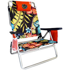 Rio 5 Position Backpack Chair Maui U0026 Sons 5 Position Aluminum Sand Chair Hibiscus By Strand