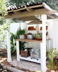 the decorated house potting bench garden shed create u0026 recycle