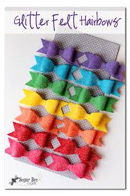 how to make hair bows for glitter felt hairbows sugar bee crafts