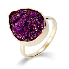 amethyst engagement rings amethyst druzy quartz golden peardrop ring eve u0027s addiction