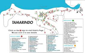 Map Costa Rica Tamarindo Map Costa Rica Maps With Hotels Navigation Rollover