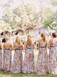 watercolor bridesmaid dresses get the look at any budget patterned bridesmaid dresses