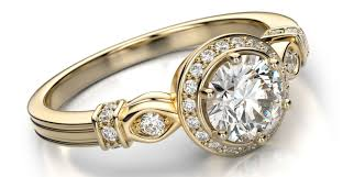 diamonds yellow gold engagement rings amazing yellow gold
