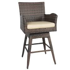 Outdoor Patio Cooler Cart by Amazon Com Tustin Wicker Outdoor Swivel Arm Bar Stool Home U0026 Kitchen