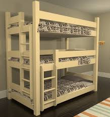 three bunk beds custom bunk beds triple bunk beds
