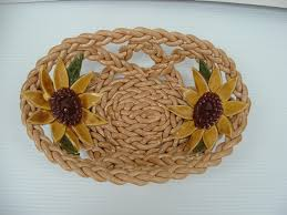 Sunflower Home Decor by Beige Pottery Bowl Fruit Bowl Bread Warmer Pottery Basket Home