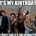 Walking Dead Happy Birthday Meme - walking dead happy meme generator imgflip