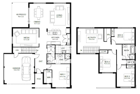 small two story house plans home design modern 2 story house floor plans compact craftsman m