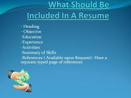 a resume is a one page summary of your skills education and