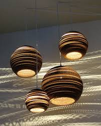 Trendy Lighting Fixtures Pendant Light Fixtures Made Of Corrugated Paper Contemporary