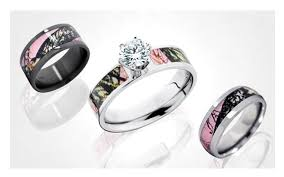 camo wedding sets vintage camo wedding rings rikof