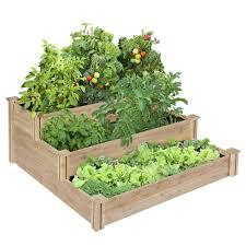 cedar raised garden beds home outdoor decoration