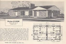 1950s Ranch House Plans Vintage House Plans 322h Antique Alter Ego